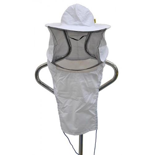 Капелюх бджолярський (в'язаний спереду)