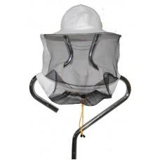 Капелюх бджолярський з льону (сітка ззаду)
