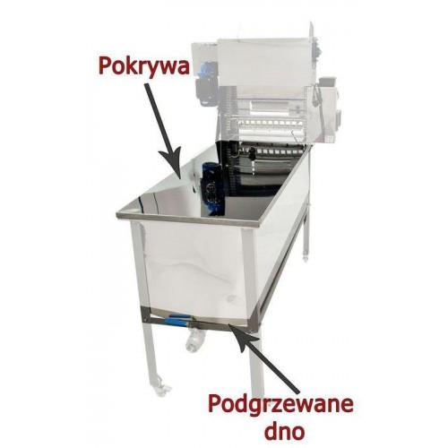 Стіл для розпечатування з подавачем - опція А - кришка і підігріте дно