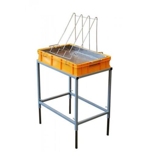 Стол для распечатки с ванночкой пластиковой 100 мм, сито нержав.