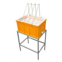 Стол для распечатки с ванночкой пластиковой 300 мм, сито пластик