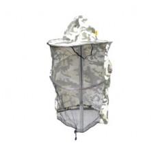 Капелюх бджолярський камуфляж (полотно ззаду)