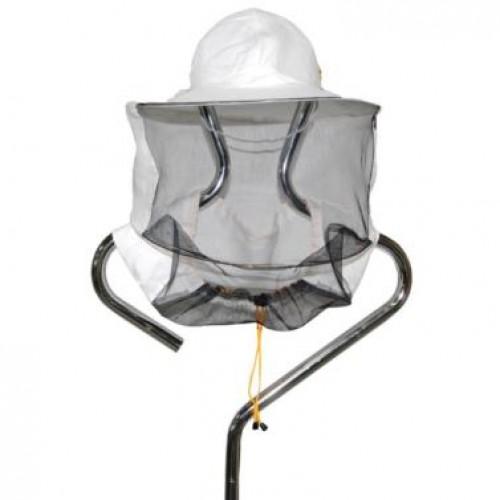 Капелюх бджолярський з льону (полотно ззаду)