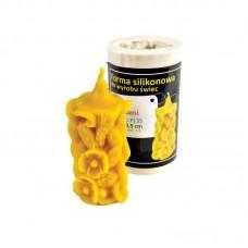 Форма силіконова Свічка звичайна з квітами (9,5см)