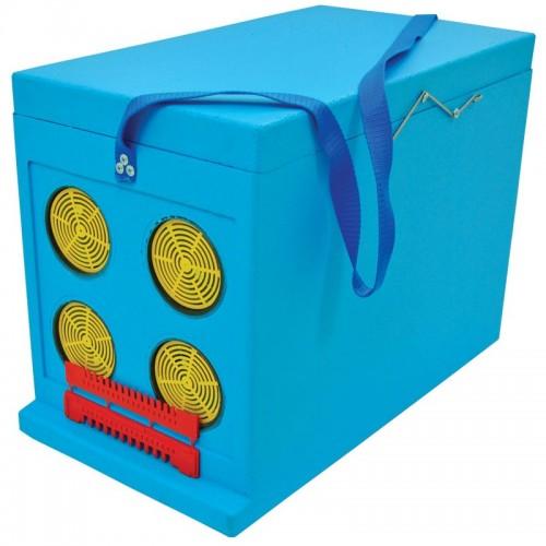 Ящик Дадан для транспортировки пчел 6-рамочный, крашеный