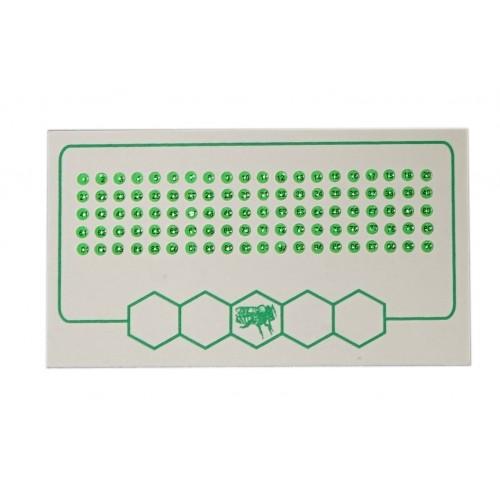 Мітки для маток зелений колір (1-100)
