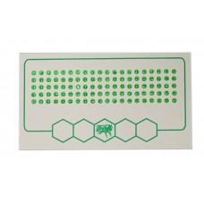 Мітки для маток зелений колір (1-500) упаков.