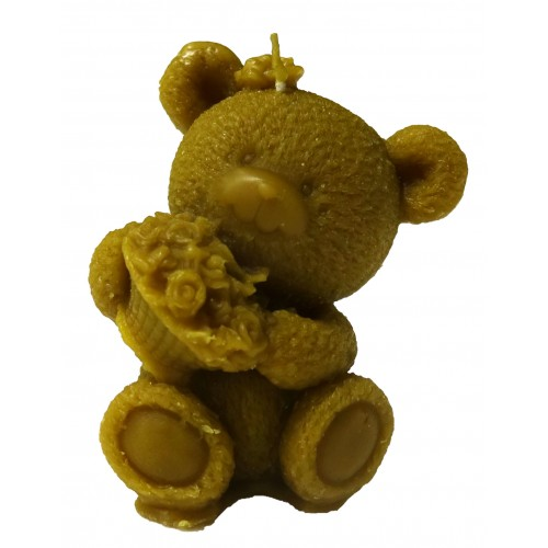 "Свеча ""Медвежонок с цветами"""