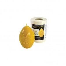 Форма силиконовая Яйцо с кружевом большое (10,5см)