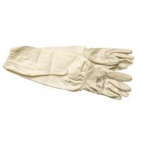 Перчатки резиновые с полотном удлиненные
