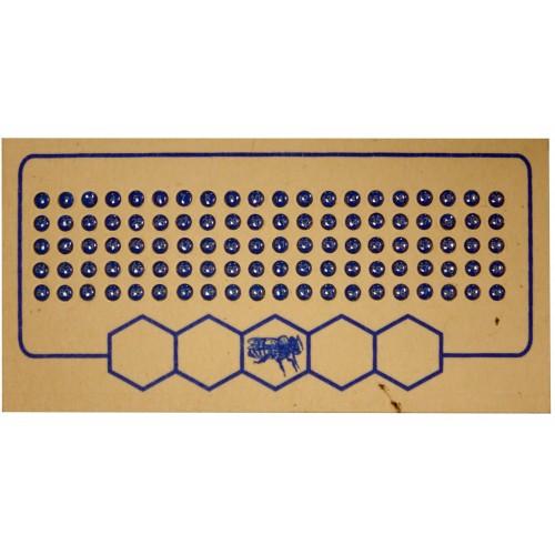 Метки для маток синий цвет (1-1000)