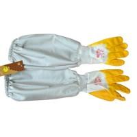 Перчатки резиновые с полотном