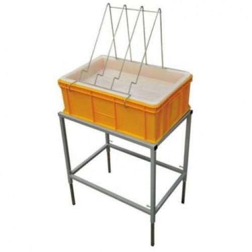 Стіл для розпечатування з ванночкою пластиковою 200 мм, сито пластик
