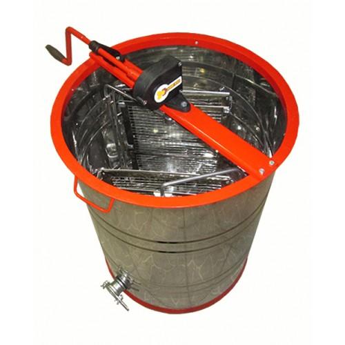 Медогонка с поворотом кассет  3-х рамочная нержавеющая КН (кассеты нержавеющие) с обручем