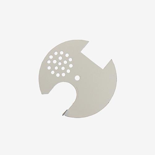 Льотковий загороджевач круглий (з металевим покриттям)