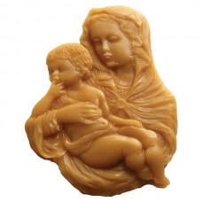 Форма силиконовая Матерь Божия с Младенцем - образок (15 см)