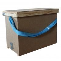 Ящик для переноса 6 -ти рамок  с 1-й регулируемой ременной ручкой,  385х520х235