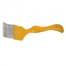 Вилка для розпечатування медових щільників (голки з перегином), ручка пластмасова