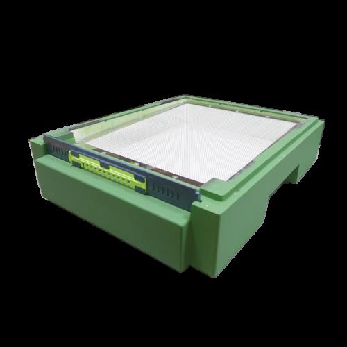 Дно пінополістирол 10 рамок Lyson гігієнічне фарбоване (зелене)