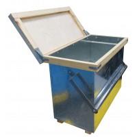 Ящик для переносу 6-ти рамок Дадан оцинков. з металевою ручкою