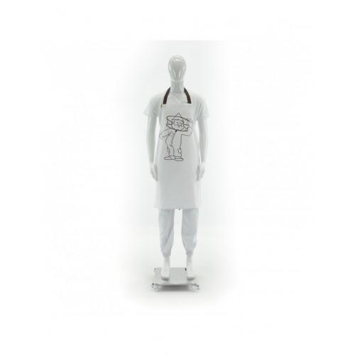 Фартух кухонний білий довгий_1