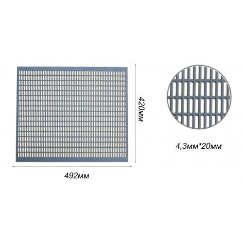 Разделеная решетка пластиковая на 10 рамок 41,8см х 49,0см Lyson_1