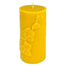Свічка ролик великий орхідея (13,5см)