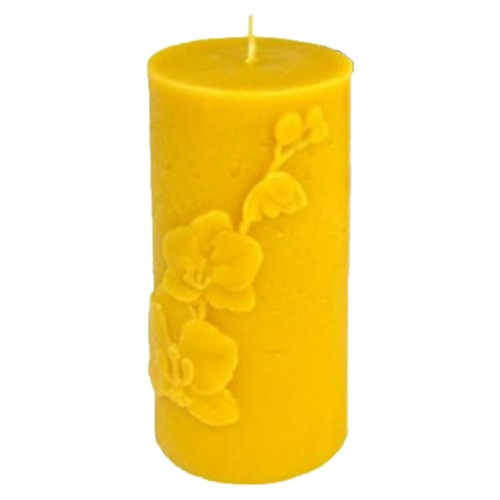 Свеча ролик большой орхидея (13,5см)