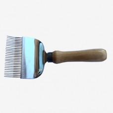 Вилка для розпечатування медових щільників 25 голок (голки з перегином), ручка дерев'яна