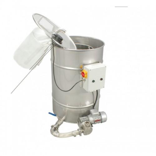 Відстійник з насосом для фільтрації меду