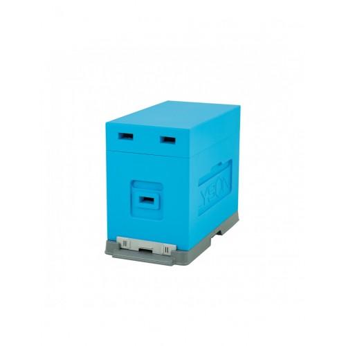 Вулик пінополістирол для вирощування пакетів Дадан на 6 рамок (пластикове дно) фарбований