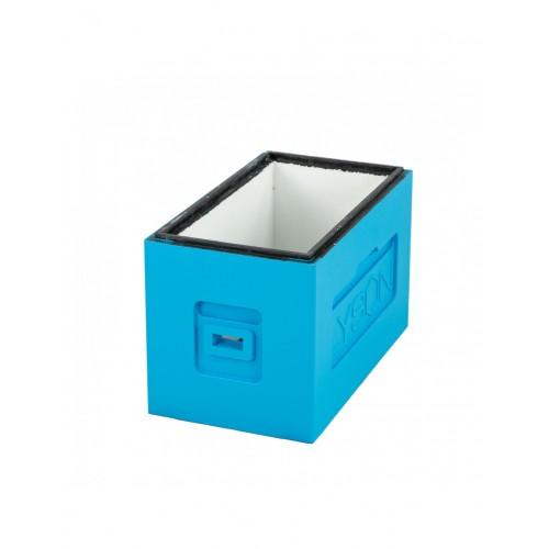 Вулик пінополістирол для вирощування пакетів Дадан на 6 рамок (пластикове дно) фарбований_1