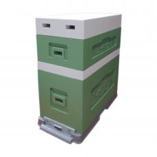 Вулик Дадан на 6 рамок Дадан (з надставкою) фарбований зелений
